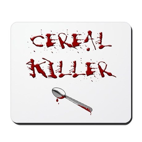 Cereal Killer Spoon Mousepad