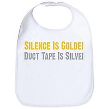Silence Is Golden Bib