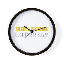 Silence Is Golden Wall Clock