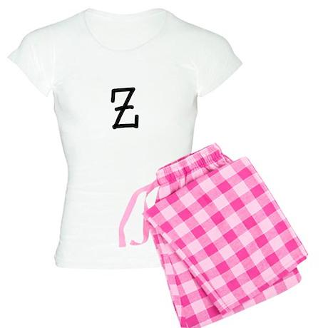 Bookworm Monogram Z Pajamas