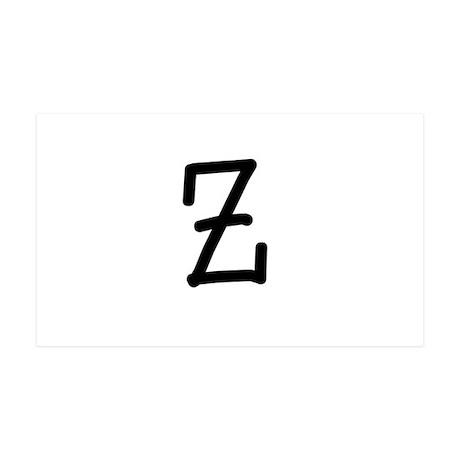 Bookworm Monogram Z Wall Decal