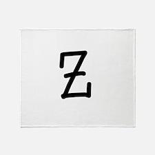 Bookworm Monogram Z Throw Blanket