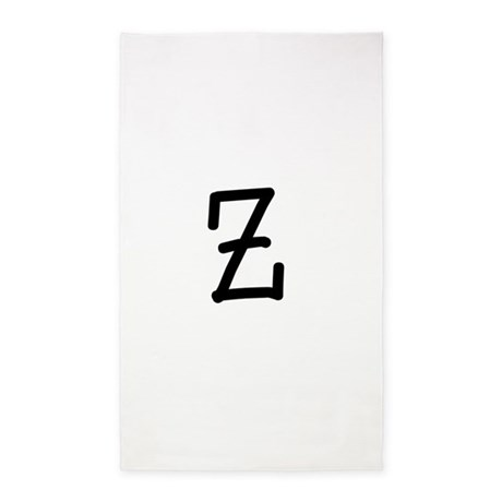 Bookworm Monogram Z 3'x5' Area Rug