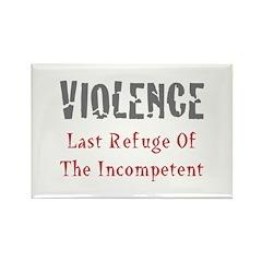 Violence Rectangle Magnet