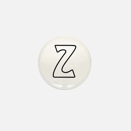 Outline Monogram Z Mini Button