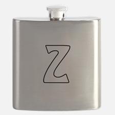 Outline Monogram Z Flask