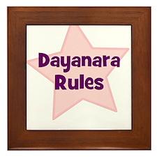 Dayanara Rules Framed Tile