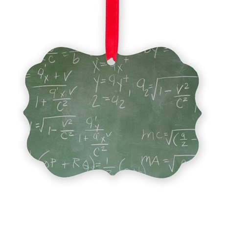 Blackboard with math equations Picture Ornament