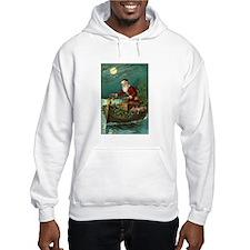 Victorian Santa Moonlight Boat Hoodie