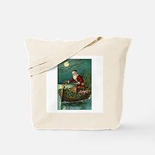 Victorian Santa Moonlight Boat Tote Bag