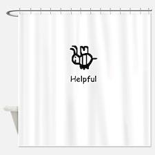 Bee Helpful Shower Curtain