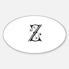 Royal Monogram Z Decal