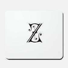 Royal Monogram Z Mousepad