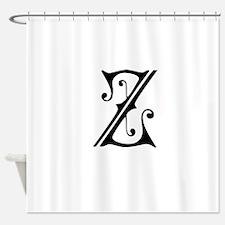 Royal Monogram Z Shower Curtain