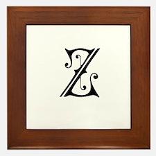 Royal Monogram Z Framed Tile