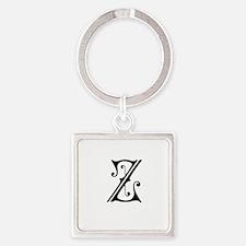 Royal Monogram Z Keychains