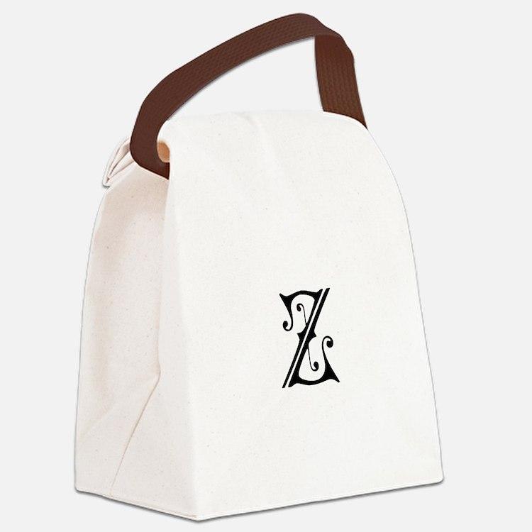 Royal Monogram Z Canvas Lunch Bag