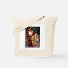 Santa and Christmas Angel Tote Bag