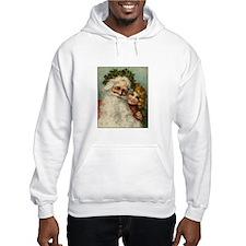 Classic Victorian Christmas Santa Hoodie