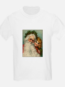 Classic Victorian Christmas Santa T-Shirt
