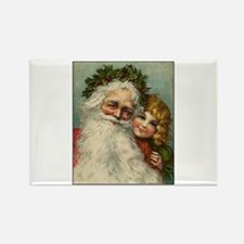 Classic Victorian Christmas Santa Rectangle Magnet