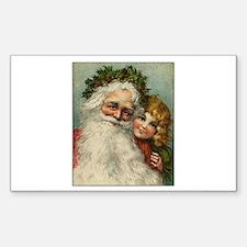 Classic Victorian Christmas Santa Decal