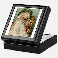 Classic Victorian Christmas Santa Keepsake Box