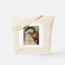 Classic Victorian Christmas Santa Tote Bag