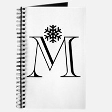 Winter Monogram M Journal
