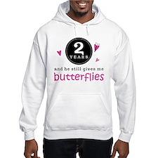 2nd Anniversary Butterflies Hoodie