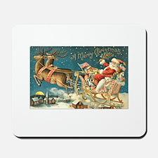 Victorian Santa Sliegh Flying Mousepad