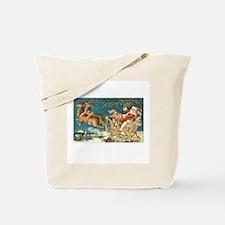 Victorian Santa Sliegh Flying Tote Bag