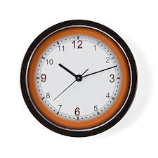 Unique Orange wall Wall Clock