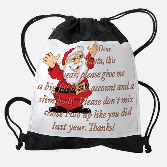 Santa Letter Drawstring Bag