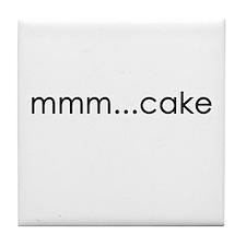 mmm...cake Tile Coaster
