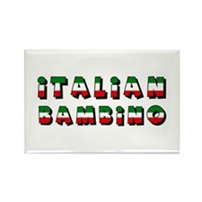 Italian bambino Rectangle Magnet