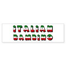 Italian bambino Bumper Bumper Sticker