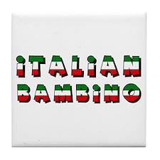 Italian bambino Tile Coaster