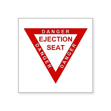 EJECTION SEAT Oval Sticker
