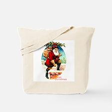 Victorian Santa Claus - Rooftop Chimney Tote Bag