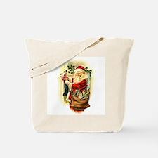 Victorian Santa Claus filling Stockings Tote Bag