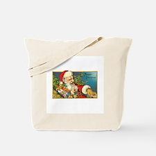 Christmas - Santa Delivering Toys Tote Bag