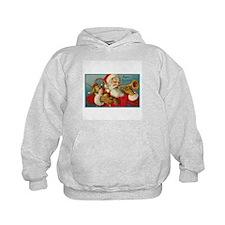 Merry Christmas Santa - Horn Playing Santa Hoodie