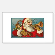 Merry Christmas Santa - Horn Playing Santa Decal