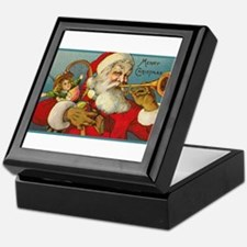 Merry Christmas Santa - Horn Playing Santa Keepsak