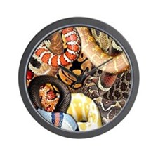 Snake Collage Wall Clock