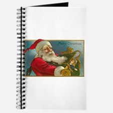 Victorian Santa Claus Delivering Toys Journal