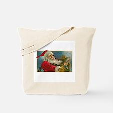 Victorian Santa Claus Delivering Toys Tote Bag