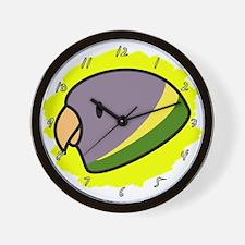 Female Plum-Headed Parakeet Clock