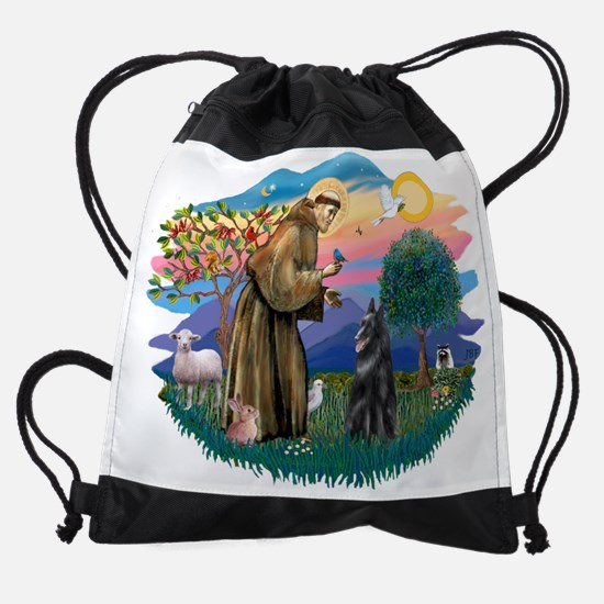 The Saint - Flat Coated Retrievers  Drawstring Bag